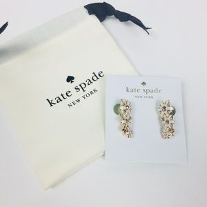 Kate Spade Citrus Crush Ear Pins NWT White Crawler